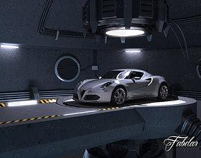 Alfa 4C garage 3D