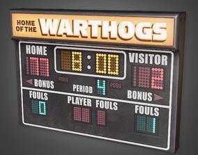 3D asset HSG - School Gym Scoreboard - PBR Game Ready