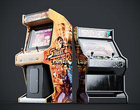 3D Arcade Game Machine Cabinet