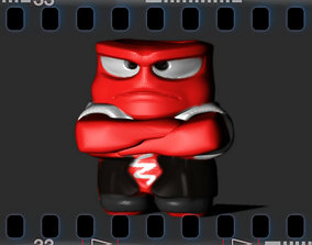 Inside Out Angry 3D print model funny
