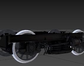 3D model low-poly ER2 motor wagon bogey