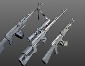 3D model Kalashnikov collection