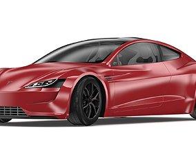 2020 Tesla Roadster Red Multi-Coat 3D