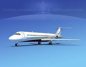 3D Douglas DC-9-30 Corporate 4