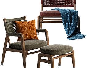 Flexform Ortigia armchair 3D