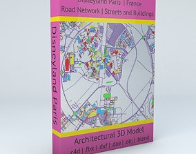 3D model Disneyland Paris Road Network Buildings and