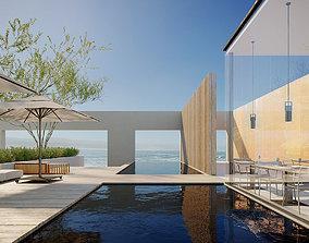 3D Corona C4D Scene files - Resort Exterior