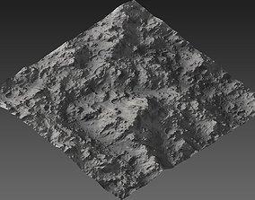 3D asset realtime Large-Scale Moon Environment