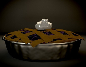3D Blueberry Pie