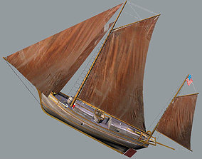 3D model Sloop Spray of Joshua Slocum