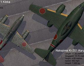 Karyu and Kikka - the Japanese Me-262s 3D