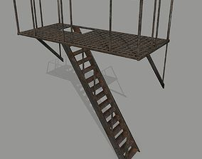 Fire Escape 3D model VR / AR ready