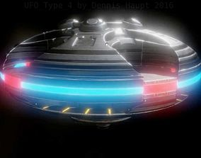 UFO Type 4 Animated and Game Ready 3D asset