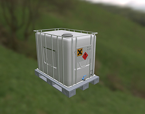 IBC container in palette 3D model