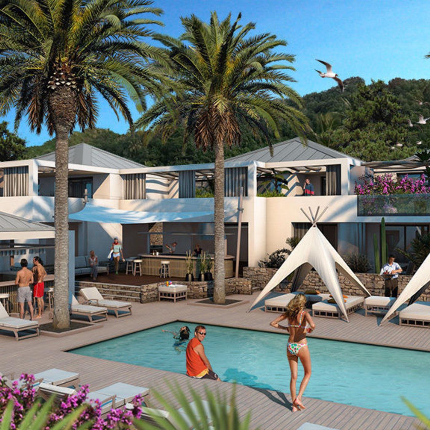 Resort project in St Barthelemy island scene