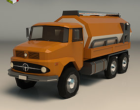 Low Poly Vintage Truck 03 3D model low-poly
