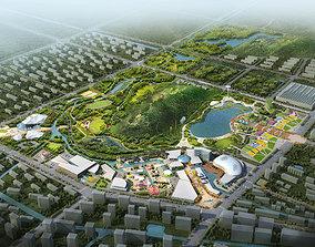 Amusement Park carnival 3D model