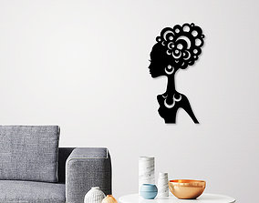 3D printable model African woman wall art