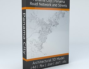 city 3D Panama City Road Network and Streets