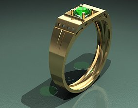 male finger ring for 3D print