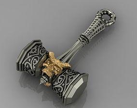 3D printable model Pendant Hammer to the Skull 122