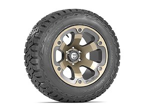 3D model OFF ROAD WHEEL AND TIRE 2