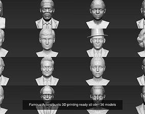 Famous Actors busts 3D printing ready stl obj