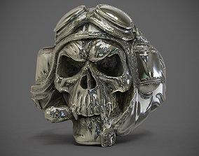 3D printable model Skull Ring 01