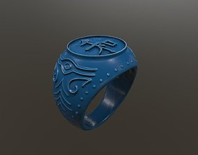Japanese Style Ring - Peace 3DPrint printable