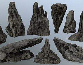 rocks 3D model plant