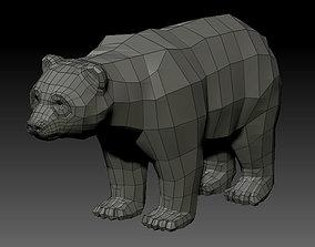 low-poly 3D PANDA LOWPOLY