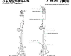 IG-11 Life Size Droid Legs 3D print ready STL - The