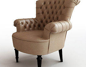 Classical leather armchair 3D