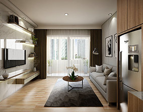 3D model Apartement One Bedroom Modern