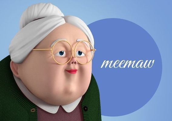 Memaw Stylized Female Elderly Character 3D model