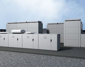 20 MegaWatt NAS Battery Park Ready to Render 3D model