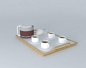 3D Coffee tray / Tea - Tea / Coffee