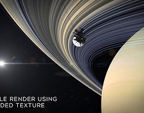 Ultra-High Definition Saturns Rings Texture 3D model