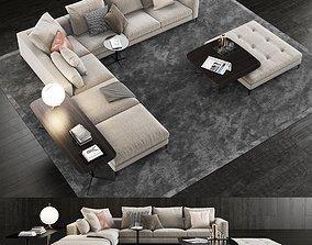 3D model Minotti Andersen Sofa