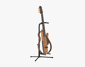 Yamaha Silent Guitar SLG200N with Stands 3D model