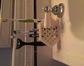 3D print model Hex Toothbrush Holder