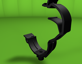 Clip clamp and anchor 3D asset