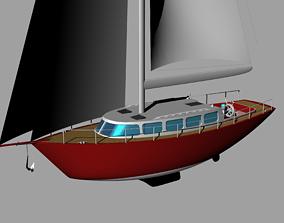 3D Classical Sailing Yacht
