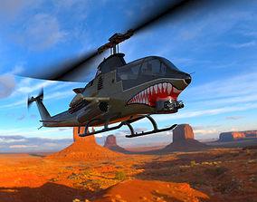 3D model AH-1 Cobra Helicopter Poser