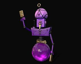 3D model animated Tarologist Robot
