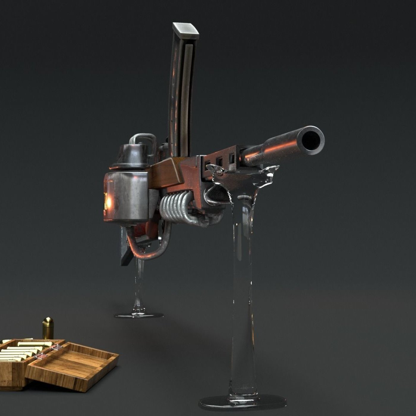 steam rifle.