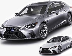 3D Lexus LS500 2021 hybrid and F-sport
