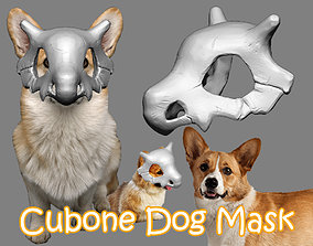 Cubone Dog Mask - Cubone Cat Pet 3D printable model