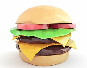 3D model Burger Low Poly