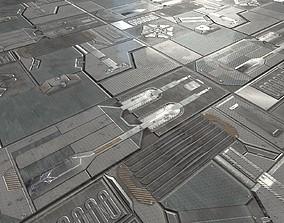 Sci-Fi wall Textures 3D model